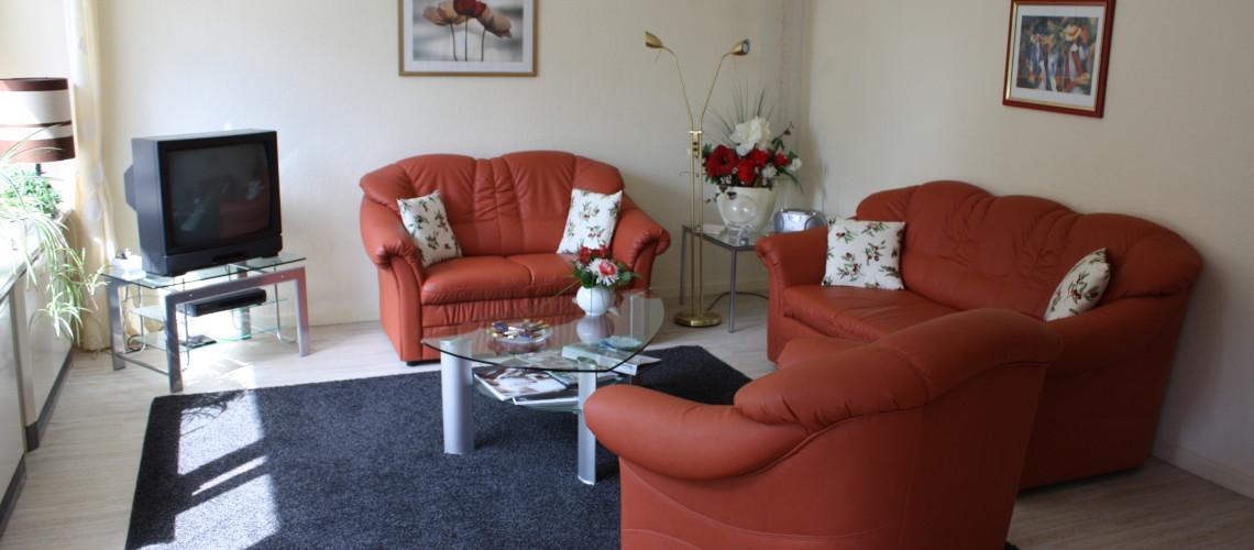 Wohnzimmer: Ferienwohnung in Bad Gandersheim bei Klügers
